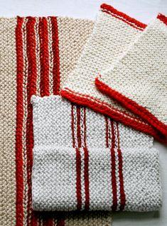 knit dish towels