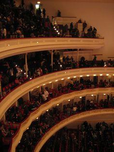 vertical balconies - carnegie hall, nyc