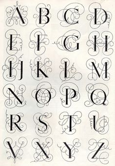 Embroidery monogram patterns from 1950 by Vakuoli