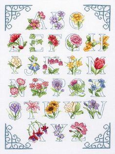 Floral Alphabet cross stitch