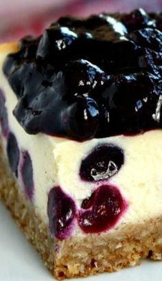 Blueberry Bliss Cheesecake Bars