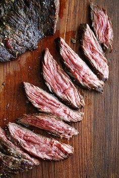 shallot, dinner, skirts, food, beef, skirt steak, recip, slice steak, flap steak