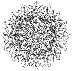 Mandala 579, Creative Haven Kaleidescope Designs Coloring Book, Dover Publications