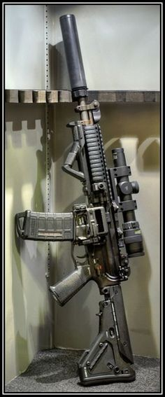 AR-15 with suppressor