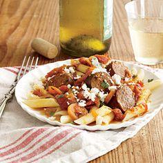 Turkey Sausage and Spicy Tomato Sauce | MyRecipes.com