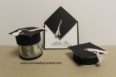 Fun DIY Graduation cards, gift holder and favors - www.remarkablycreated.com