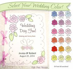 Wedding coloring book for kids!