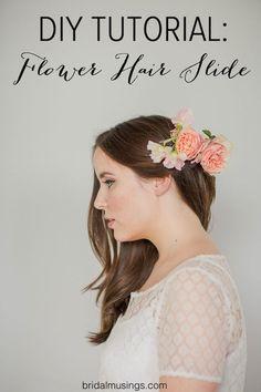 Flower Hair Slide | DIY Tutorial | Bridal Musings Wedding Blog