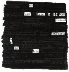 Cold Heart - Blackout Poem by Kevin Harrell (www.blackoutpoetry.net)