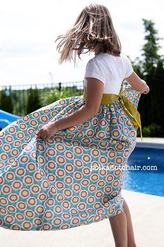 The Polkadot Chair: Tutorial: Summer Maxi Dress, t-shirt refashion