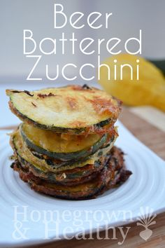 Beer battered zucchini rings (with a gluten free update)