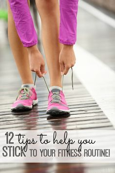 12 helpful (and creative!) tips to help you stick to your workout routine! #11 is especially helpful! | via @My Life and Kids