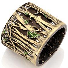 Bracelet   Silvia Furmanovich.   Gold, diamond, wood and enamel