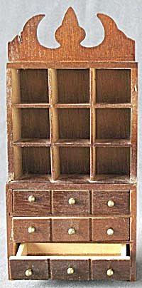 Vintage Dollhouse Hutch