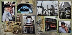 scrapsharri potter, scrappi idea, amus parksfair, scrapbook idea, parksfair scrapbook, harry potter scrapbook layouts