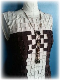Upcycled Basket Weave - T-Shirt Party Dress  #Dress, #Fabric, #Recycled, #TShirts