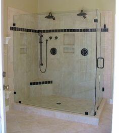 Bathroom showers glass
