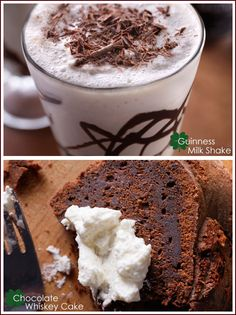 Guinness and chocolate recipes! chocolates, guin milkshak, shake recipes, food, milk shake recipe, drink, chocolate syrup, guiness milkshake, dessert