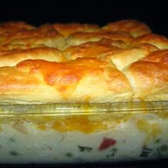Creamed Chicken and Biscuits Casserole - Recipes, Dinner Ideas, Healthy Recipes & Food Guide
