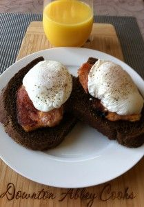 Poached eggs is an easy breakfast dish to make for company. All you need is fresh eggs and a pot of simmering water.