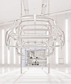 blanc. BMW Museum Munich