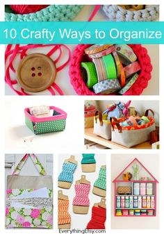 10 Crafty Ways to Organize {DIY Organization} - EverythingEtsy.com