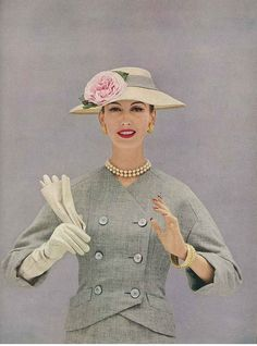 January Vogue 1956    Photographed by Richard Rutledge.
