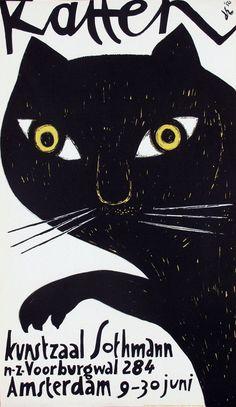 Dick Elffers, Katten, 1956
