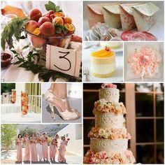 Soft peach and cream wedding ~ so pretty ~