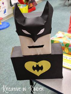 valentine box, valentin box, superhero classroom, valentin parti, suggestion box