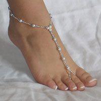 beaches, bead, wedding shoes, accessori, anklet, beach weddings, swarovski crystals, something blue, barefoot sandal