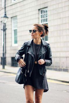 black leather moto jacket, #OOTD, casual street style