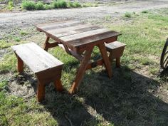 Build a children's picnic table from pallets and recycled fence wood.