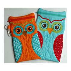 """In The Hoop :: Bags, Cases & Wallets :: Owl Cases Large - Embroidery Garden 