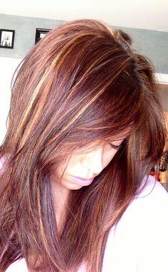Red blonde brown hair