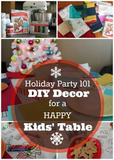 DIY decor for a happy kids' table