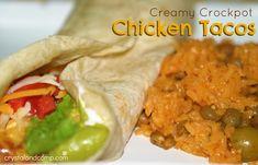 Creamy Crockpot Chicken Tacos