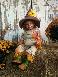 Cutest Homemade Scarecrow Baby Costume