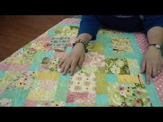 The Darling Disappearing Nine Patch is perfect for baby #quilts and any other free quilt patterns. Free quilt block patterns like the disappearing nine patch quilt block make a great creative base for a professional, clean-cut appearance. Check out the #video #tutorial!