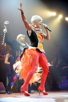 Pink Performing In Concert In Munich