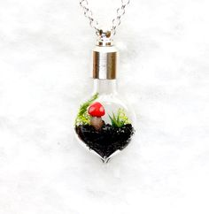 Terrarium Necklace, Lost World.  Handmade Pendant.. $27.50, via Etsy.