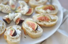 Whipped Goat Cheese + Fig Crostini