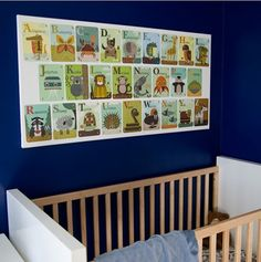 #DIY Animal Alphabet Card Art  It's never too early to expose your little one to the alphabet in a fun way!  CLICK to make one  your baby's nursey http://www.babydeco.co.uk/12-creative-diy-nursery-ideas/