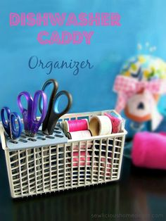 Dishwasher Silverware Caddy Organizer - Organize your craft room and think outside the box - use what you have!