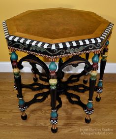One of the amazing vintage furniture makeovers by Joyce Shelton.