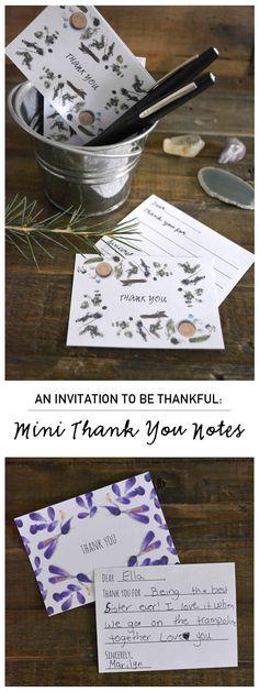 {Mini Thank You Notes Printables} Spread the Gratitude!