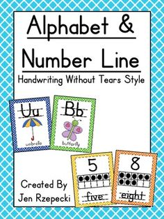 "Perfect alphabet for teachers who use ""Handwriting Without Tears"""