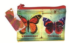 Recycled Butterfly Coin Purse - 95% recycled post consumer material. #gogreen #ecofriendly