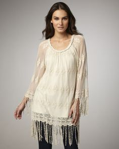 Sheer Fringe Tunic by XCVI at Neiman Marcus.