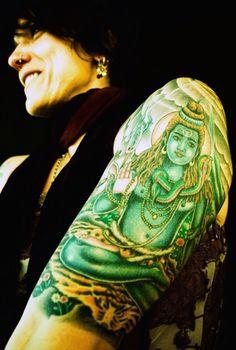 Shiva tattoo on Michele Worstell